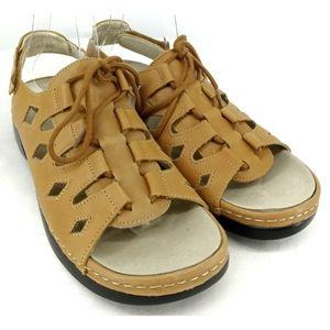 Propet Amelia ghillie sz 9 lace up sandals